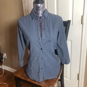 New York and company 3/4 length button down